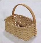 Index Card Basket Handwoven