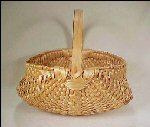 Large Handwoven Buttocks Basket Maple