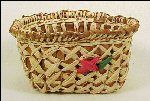 Makah Indian Basket Miniature