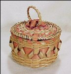 Native American Indian Basket Walpole Island Ash & Curls