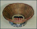 Patriotic Spongeware Fruit Basket