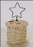 Basket Ornament Christmas Tree Star Handwoven