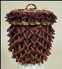 Mohawk Pine Cone Indian Basket Black Ash & Sweet Grass SOLD!