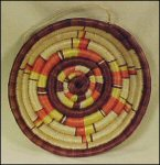 Handwoven African Tribal Art Plaque Basket