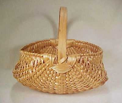 Large Handwoven Buttocks Egg Basket Maple - Simply Baskets